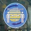 HSA Raamsticker Houd Afstand eigen logo 30cm