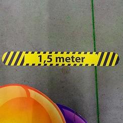 Vloersticker '1,5 meter' 40x5cm