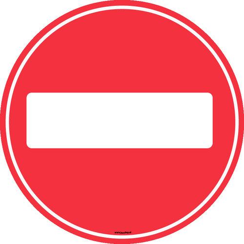 HSA Raamsticker verboden richting 30cm