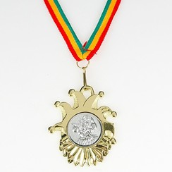 Medaille Carnaval Velika compleet 6 cm