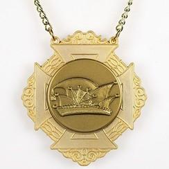 Medaille Bartholo Goud-misty 8x9cm