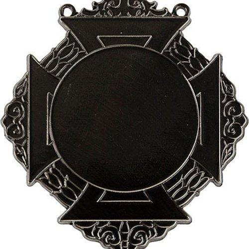 Medaille Bartholo Zilver-antiek 8x9cm