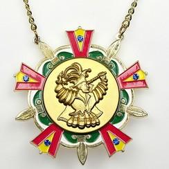 Medaille Baernd Goud ro-ge-gr-wi ø9cm