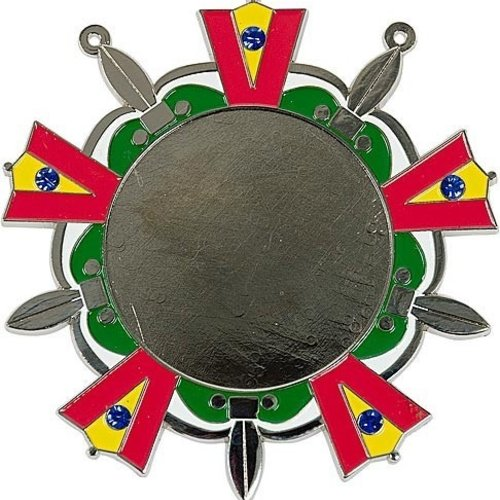 Medaille Baernd Zilver ro-ge-gr-wi ø9cm