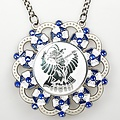 Medaille Baltasar Zilver-misty blauw-wit ø9cm