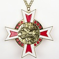 Medaille Baruch Goud rood-wit 11x11xm