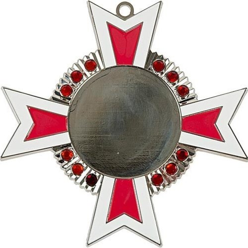 Medaille Baruch Zilver rood-wit 11x11cm