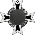 Medaille Baruch Zilver-antiek zwart-wit 11x11cm