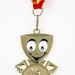 Medaille Klemens goud 6cm