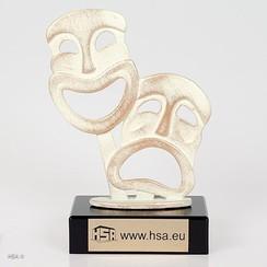 Trofee toneel of carnaval 16 cm