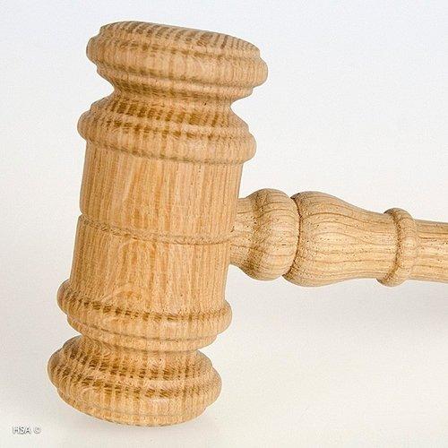 Voorzittershamer hout met slagblok