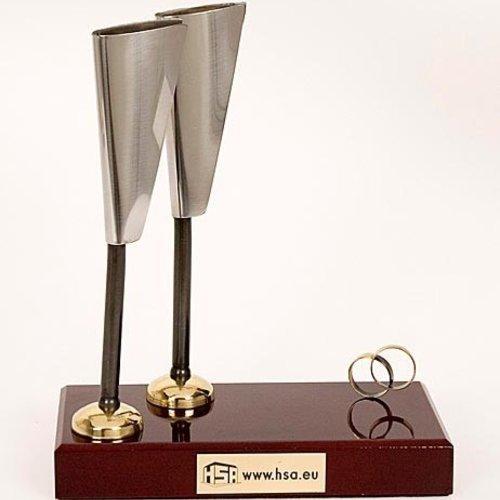 Figuur champagneglazen 25cm