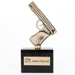 Trofee Pistool metaal 18,5 cm