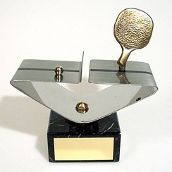Trofee tafeltennis hoog 16cm
