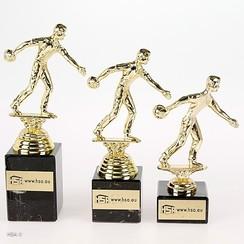Trofee bowling heer goud