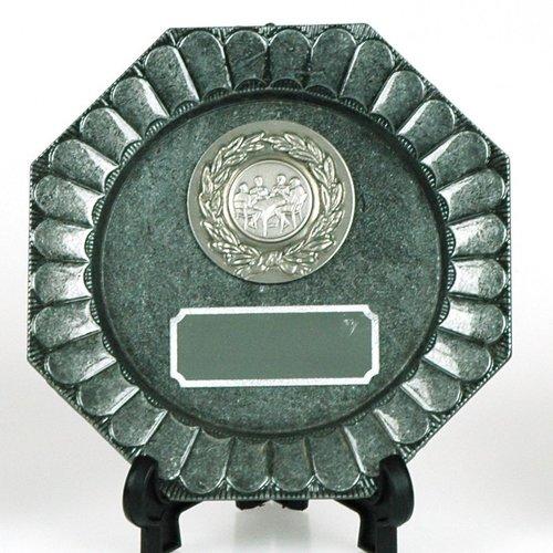 Sierbord Ezzirah zilverkleur op standaard
