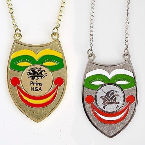 Medaille Jopie Clown 7cm ketting