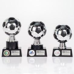 Trofee Voetbal Zilver-zwart