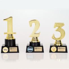 Trofee nummer 1-2-3 Goud
