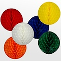 Decoratie bal geel brandveilig