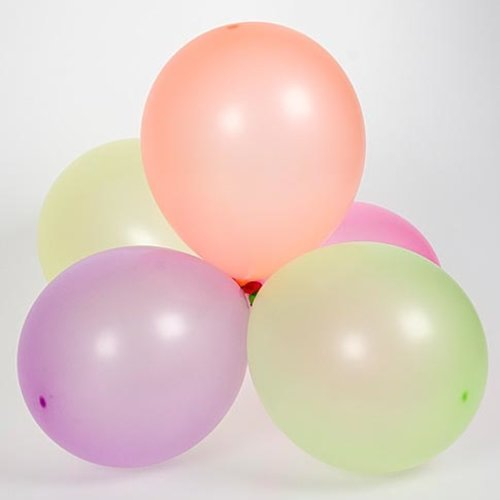 Ballon neonkleuren 25 cm 100 stuks