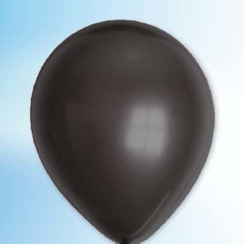 Globos Ballon metallic zwart ø 30 cm 100 stuks