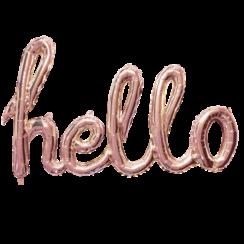 Folie ballon Hello goud-roze 119 cm