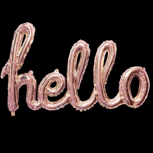 Globos Nordic Folie ballon Hello goud-roze 119 cm