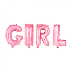 Folie ballon Girl roze 40 cm
