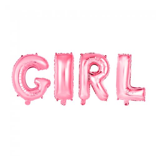 Globos Nordic Folie ballon Girl roze 40 cm