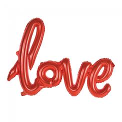 Folie ballon Love rood 119 cm