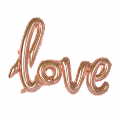 Folie ballon Love goud-roze 119 cm