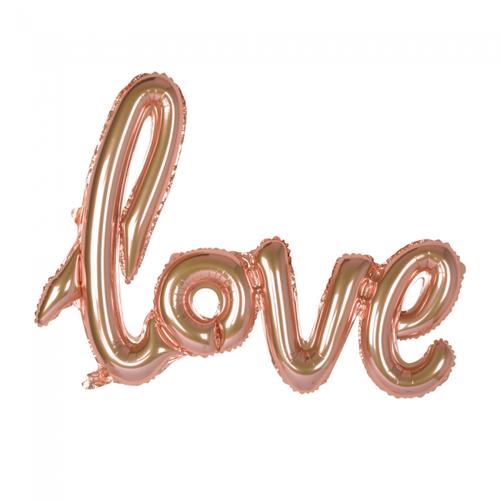 Globos Nordic Folie ballon Love goud-roze 119 cm