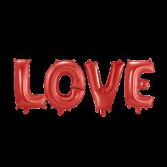 Folie ballon Love rood 40 cm