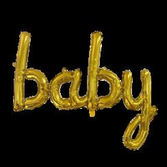 Folie ballon baby goud 119 cm