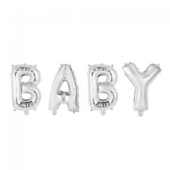 Folie ballon Baby zilver 40 cm
