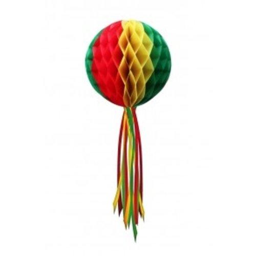 Decoratie bal rood-geel-groen ø 50 cm moeilijk brandbaar
