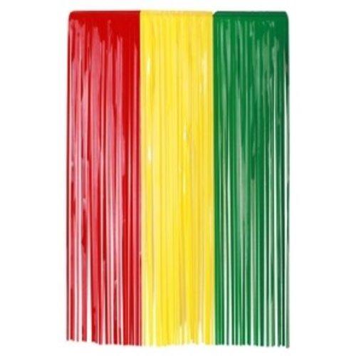 Deurgordijn pvc rood-geel-groen 100 x 180 cm brandveilig