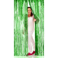 Folie deurgordijn groen metallic 2 x 1 m brandveilig