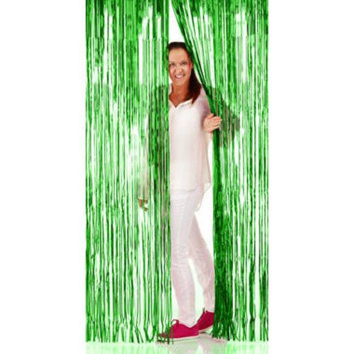 Folat Folie deurgordijn groen metallic 2 x 1 m brandveilig