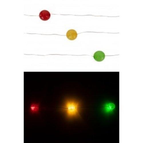 Ledverlichting snoer bollen r/g/gr 20 lampjes