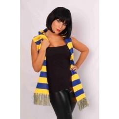 Sjaal blauw-geel 160 x 19 cm