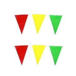 Vlaggenlijn rood-geel-groen 10 m