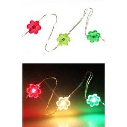 Ledverlichting snoer bloemen r/g/gr 20 lampjes