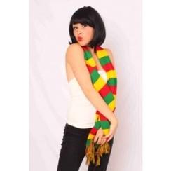 Sjaal rood-geel-groen 160 x 19 cm