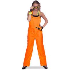 Tuinbroek neon oranje