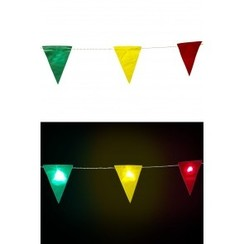 Vlaggenlijn rood-geel-groen met licht 3,25 m
