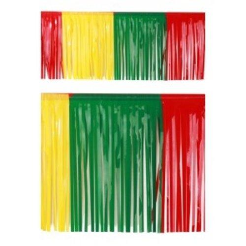 PartyXplosion Franje slinger pvc rood-geel-groen 6 m brandveilig