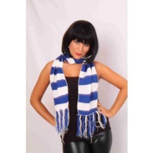 Sjaal blauw-wit 160 x 19 cm