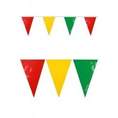 Vlaggenlijn pvc rood-geel-groen 10m brandveilig